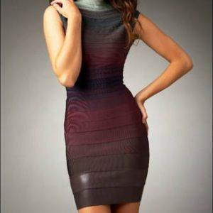 2008 Herve Leger Ombre Bandage Dress M